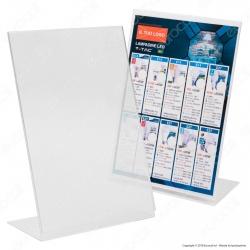 Display Monofacciale da Banco in Plexiglass per Flyer Formato A4 - Made in Italy