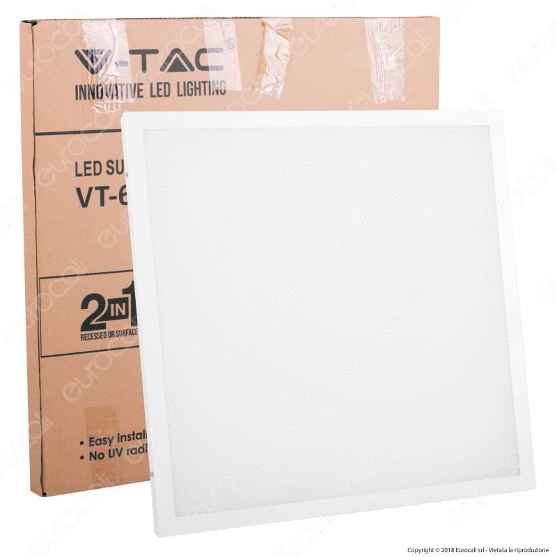 V-Tac VT-6142 Pannello LED a Montaggio Superficiale o Incasso 60x60 40W SMD con Driver - SKU 6451 / 6452