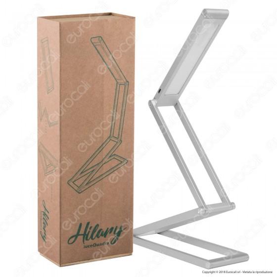 CFG Luce Quadra Hilary Lampada da Tavolo LED 3W Snodabile Dimmerabile Ricaricabile - mod. EL033