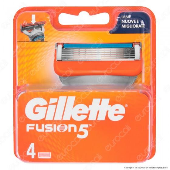 Gillette Fusion5 Ricarica di 4 Testine per Tutti i Rasoi Gillette Fusion 5