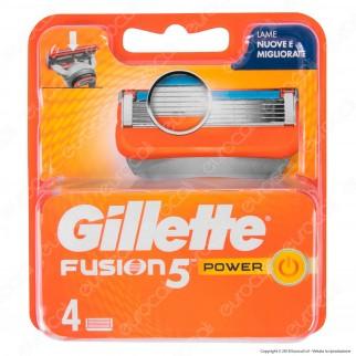 Gillette Fusion5 Power Ricarica di 4 Testine per Tutti i Rasoi Gillette Fusion5
