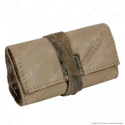 Il Morello Pocket Mini Portatabacco in Vera Pelle Colore Beige e Mimetico