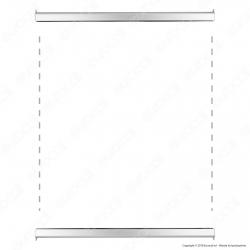 Profilo con Cornice Tecno-Scatto in Alluminio Anodizzato e Barra di Sostegno per Poster con Formato 70x100cm - Made in Italy
