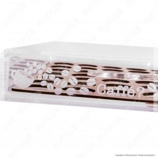 Cassetto Porta Capsule in Plexiglass Trasparente con Incisioni Laser per Capsule Nespresso