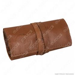 Il Morello Pocket Mini Portatabacco in Vera Pelle Reciclata Colore Marrone 10