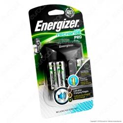 Energizer Accu Recharge Pro Caricabatterie Professionale + 4 Pile Stilo AA 2000mAh