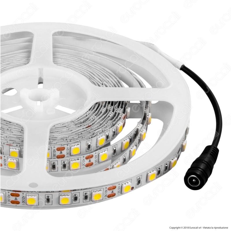 V-Tac Striscia LED 5050 Monocolore 60LED/metro - Bobina da 5 metri - SKU 2547 / 2122 / 2143 / 2126