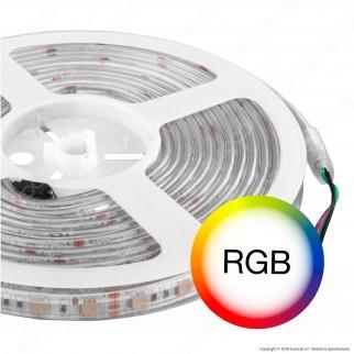 V-Tac Striscia LED 5050 Impermeabile Multicolore RGB 60LED/metro - Bobina da 5 metri - SKU 2155