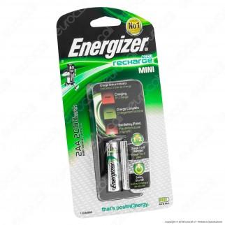 Energizer Accu Recharge Mini Caricabatterie + 2 Pile Stilo AA 2000mAh