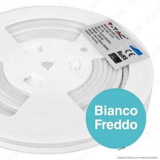 V-Tac VT-55 LED Neon StripLight Chip Samsung Impermeabile Ultrasottile Bianca - Bobina da 5 metri - SKU 326 / 327 / 328