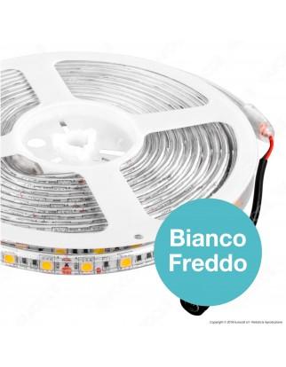 V-Tac Striscia LED 5050 Impermeabile Monocolore 60LED/metro - Bobina da 5 metri - SKU 2149 / 2150 / 2148
