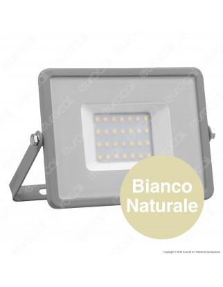 V-Tac PRO VT-30 Faro LED SMD 30W Ultrasottile Chip Samsung da Esterno Colore Grigio - SKU 454 / 455 / 456