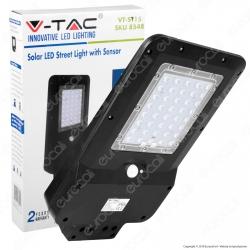 V-Tac VT-ST15 Lampada Stradale LED 15W Lampione SMD con Pannello Solare - SKU 8549 / 8548