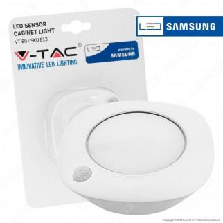 V-Tac VT-80 Lampada LED Alimentata a Batterie con Sensore di Movimento e Crepuscolare Chip Samsung - SKU 813