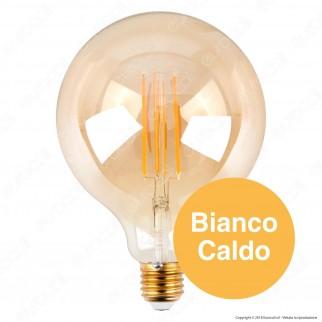 V-Tac VT-2153 Lampadina LED E27 12,5W Globo G125 Filamento Ambrata - SKU 7456
