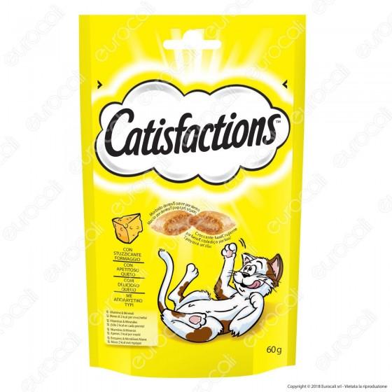 Catisfactions Snack al Formaggio per Gatti - Confezione 60g