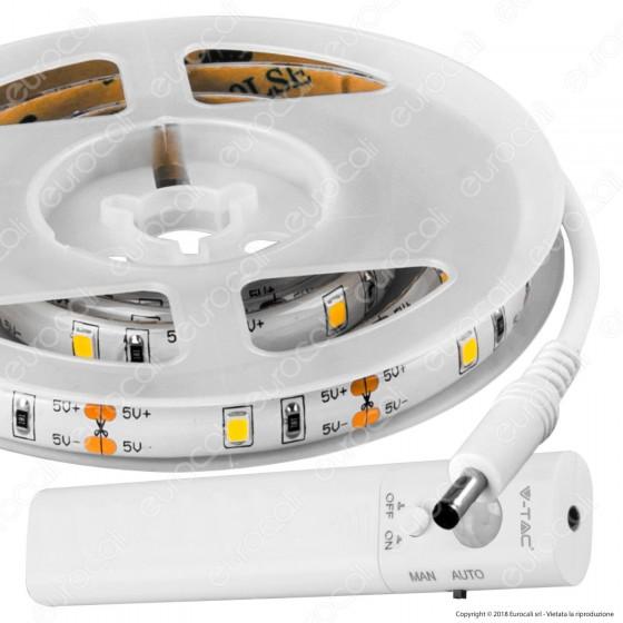 V-Tac VT-8082 Striscia LED 2,4W a Batteria con Sensore IP65 - SKU 2573