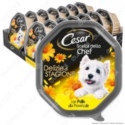 Cesar Scelta dello Chef Delizie di Stagione Cibo per Cani con Pollo alla Provenzale - 14 Vaschette da 150g