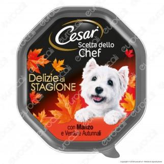 Cesar Scelta dello Chef Delizie di Sagione per Cani con Marzo e Verdure Autunnali - 14 Vaschette da 150g