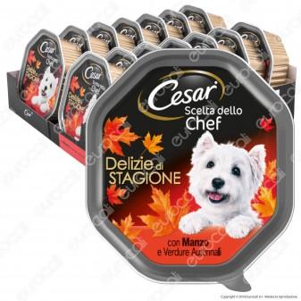 Cesar Scelta dello Chef Delizie di Stagione Cibo per Cani con Manzo e Verdure Autunnali - 14 Vaschette da 150g