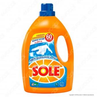 Sole Bianco Solare Ultra Detersivo Liquido per Lavatrice - Flacone da 3000ml