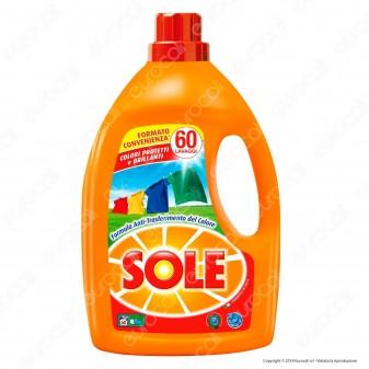 Sole Colori Protetti e Brillanti Detersivo Liquido per Lavatrice - Flacone da 3000ml