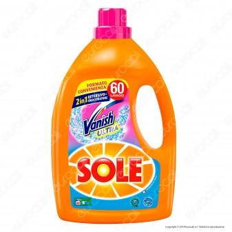 Sole Con Vanish Ultra 2in1Detersivo Liquido per Lavatrice - Flacone da 3000ml