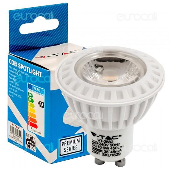 V-Tac VT-1870 Lampadina LED GU10 6W Faretto Spotlight