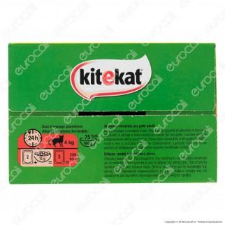 Kitekat La Simpatica Canaglia Cibo in Salsa per Gatti al Pollo, Manzo, Anatra e Salmone - Multipack con 12 Bustine da 100g