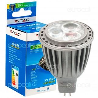 V-Tac VT-1824 Lampadina LED GU5.3 7W Faretto Bulbo