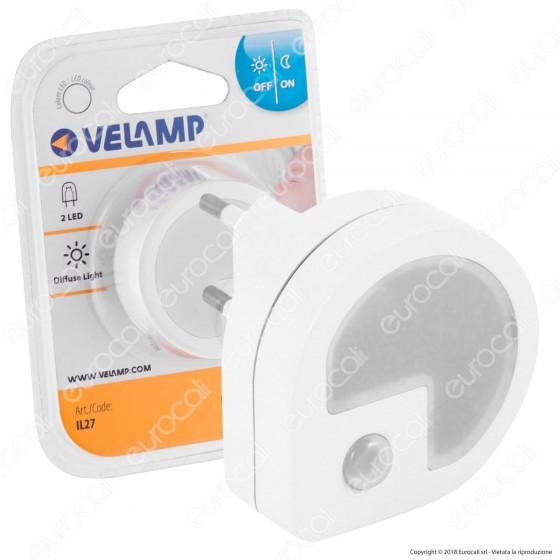 Velamp IL27 Punto Luce LED con Sensore Crepuscolare - mod.IL27LED