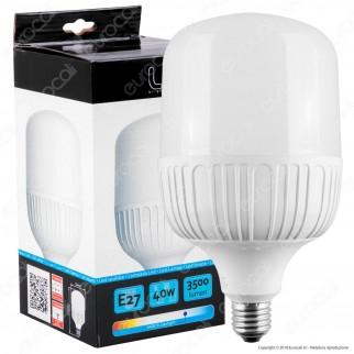 Intereurope Light Lampadina LED E27 40W Tubolare T120 - mod. LL-BAYE-12040C / LL-BAYE-12040F