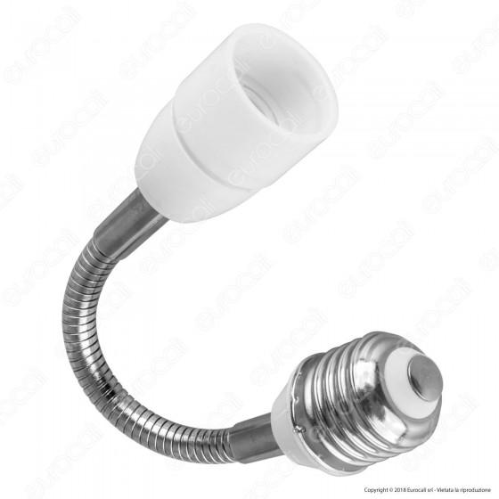 LED Line Adattatore per Lampadine da E27 a E14 con Prolunga Flessibile - mod. 242038