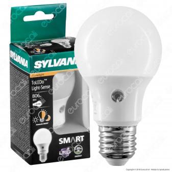 Sylvania Lampadina LED E27 8W Bulb A60 con Sensore Crepuscolare - mod. 27546