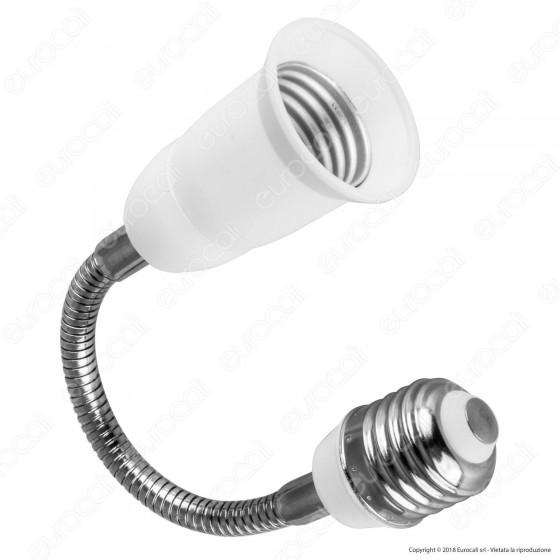 LED Line Distanziatore per Lampadine E27 con Prolunga Flessibile - mod. 242021