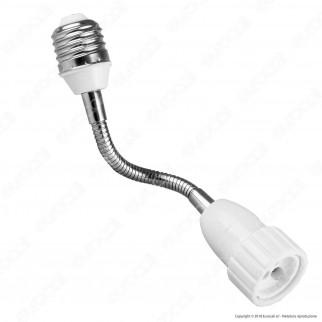 LED Line Adattatore per Lampadine da E27 a GU10 con Prolunga Flessibile - mod. 242045