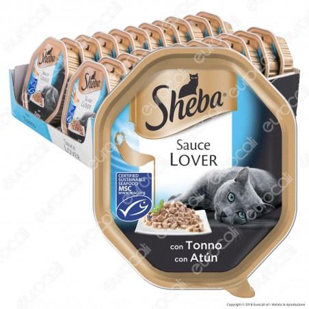 Sheba Sauce Lover Cibo per Gatti con Tonno in Salsa - 22 Vaschette da 85g