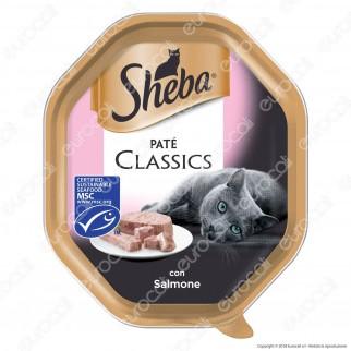 Sheba Paté Classic Cibo per Gatti al Salmone - 22 Vaschette da 85g