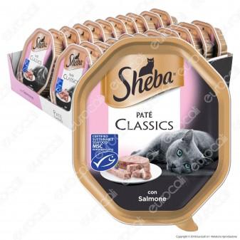 Sheba Paté Classic Cibo per Gatti al Gusto Salmone - 22 Vaschette da 85g