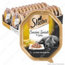 Sheba Creazioni Speciali in Salsa Cibo per Gatti con Pollo alle Erbe Fini - 22 Vaschette da 85g