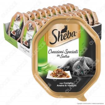 Sheba Creazioni Speciali in Salsa Cibo per Gatti con Coniglio, Anatra e Verdure - 22 Vaschette da 85g