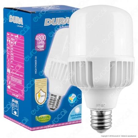 Duralamp Lampadina LED E40 50W High-Power Bulb per Campane Industriali - mod. L5064HP2