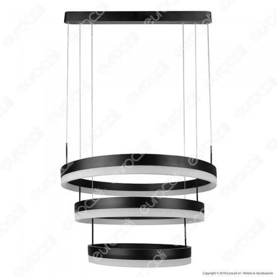 V-Tac VT-82-3D Lampada LED a Sospensione di Colore Nero 80W Dimmerabile - SKU 3990