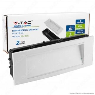 V-Tac VT-511 Lampada LED 110lm d'Emergenza Anti Black Out Grado Protezione IP40 - SKU 8383