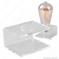Espositore in Plexiglass per 1 Lampadina con Attacco E27 - Made in Italy