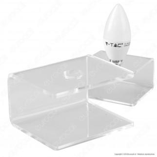 Espositore in Plexiglass per 1 Lampadina con Attacco E14 - Made in Italy