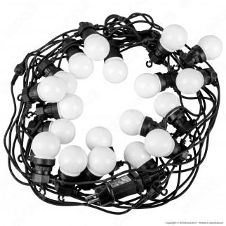V-Tac VT-71020 Catena da 20 Lampadine LED Mini Globo Bianche per Interno e Esterno - SKU 7439 / 7440