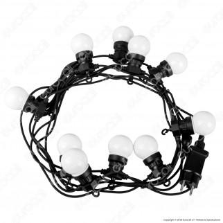 V-Tac VT-70510 Catena da 10 Lampadine LED Mini Globo Bianche per Interno e Esterno - SKU 7436 / 7437