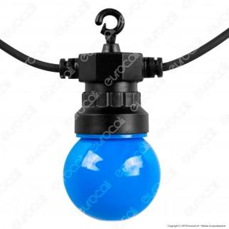V-Tac VT-70510 Catena da 10 Lampadine LED Mini Globo Multicolore per Interno e Esterno - SKU 7435