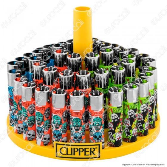 Clipper Large Fantasia Heavy Skulls 3 - Box da 48 Accendini
